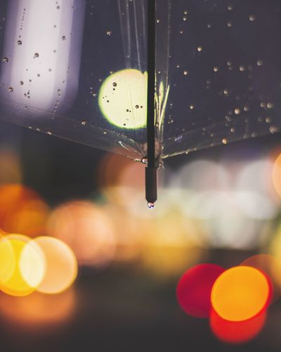 EyeEm Selects Drop Illuminated No People Water Close-up Focus On Foreground Outdoors RainDrop Summer Moodygrams Umbrella