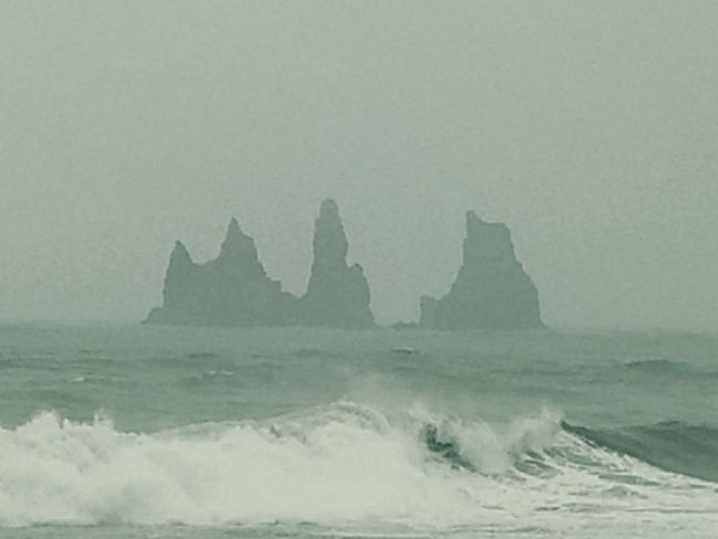 basalt trolls Wave Sea Beach Water Fog Rock Formation Surf Geology Tide Physical Geography Rugged Rock Rocky Coastline Natural Arch Coast Shore Rock - Object Horizon Over Water