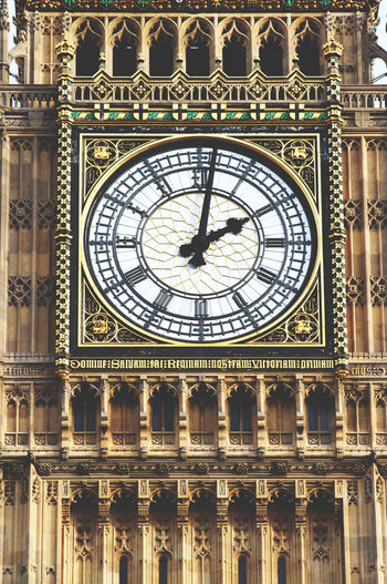 Architecture Big Ben Big Ben, London Built Structure Clock Clock Face Clock Tower Day London London United Kingdom Low Angle View Minute Hand No People Outdoors Time Westminster Westminster Abbey
