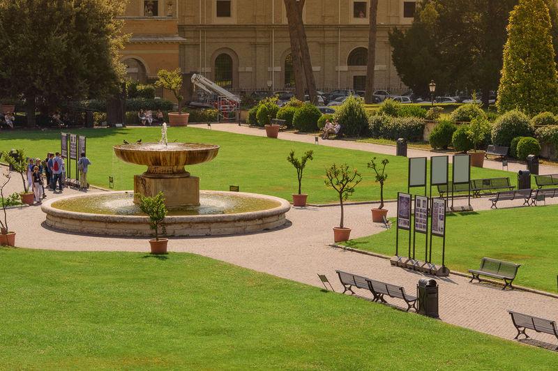 Architecture Garden Path Grass Nature Rome Italy Tree Vatican Gardens Vatican State Vaticano