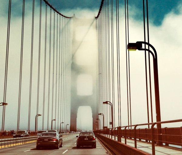 San Francisco California GoldenGateBridge Transportation Motor Vehicle Car Mode Of Transportation Land Vehicle Sky Bridge First Eyeem Photo