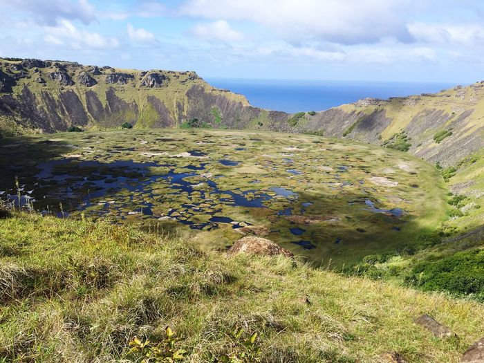 The Great Outdoors With Adobe Rano Kau crater, Easter Island