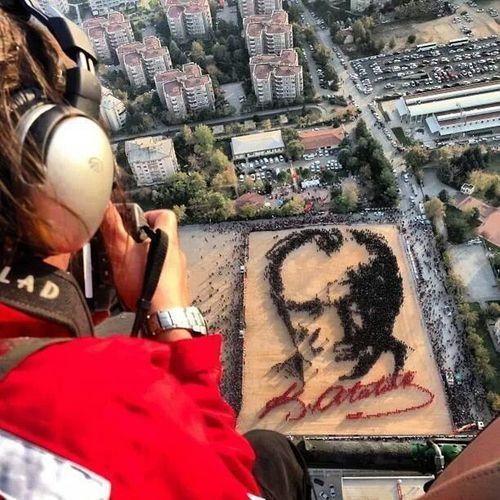 portremizi de yaptik. 29 Ekim Cumhuriyet Bayramı Mustafa Kemal Atatürk Ne Mutlu Türk'üm Diyene !