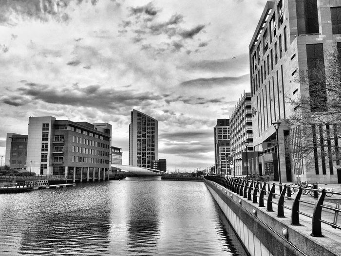 Architecture Building Exterior Built Structure City Sky River Skyscraper Water Outdoors Waterfront Cloud - Sky Travel Destinations Cityscape No People Day Modern Liverpool Black And White Blackandwhite Street Photography JoMo Photo Nikon D750 Nikonphotography Nikon Water Reflections