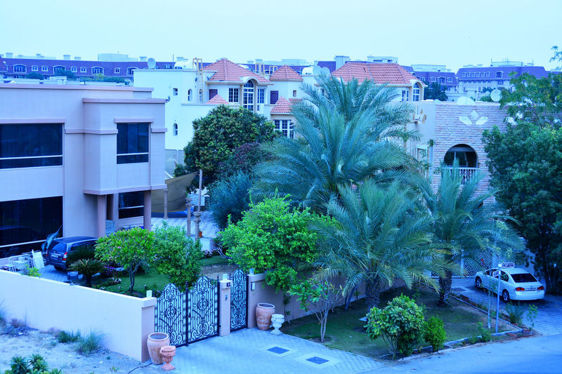 Dubai Residential Area Gated Community Merdif, Dubai Architecture Building Exterior Built Structure City Day House No People Outdoors Tree