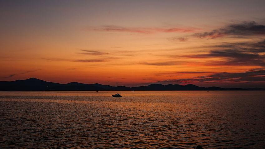 Sunset in Zadar, Croatia Coastline Coastline Landscape Croatia Nature Orange Sky Seashore Zadar Zadar Sunset Zadar,Croatia Coast Colorful Sky Outdoors Scenics - Nature Sea Seaside Seaside Town Silhouette Sky Sunset Tranquil Scene Tranquility Water Waterfront