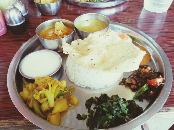 Thakali khana... Yummy!! Khana Nepali Food