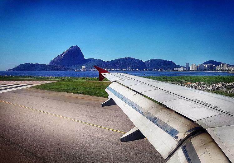 Rio de janeiro. cidade maravilhosa Sunny Clear Sky No Cloud In The Sky Travel Plane Transportation Nature Shadow Sky No People