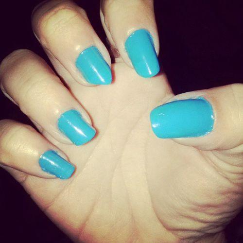 Unhas Feitas Pintei Azul fofo instacute instagood