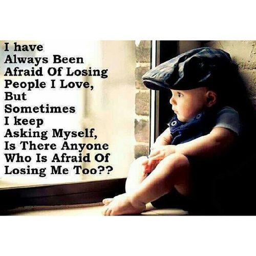 Yes I am afraid to lose you too. Mymomsentmethis Sedihokay