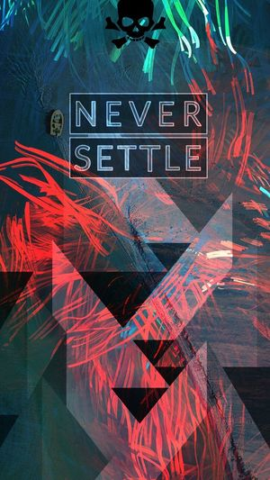 wallpaper for notched phone😎 Never Settle Oneplus Oneplus6t Rich Cyberspace Neon Neon Colored Commercial Sign Advertisement Poster Fluorescent
