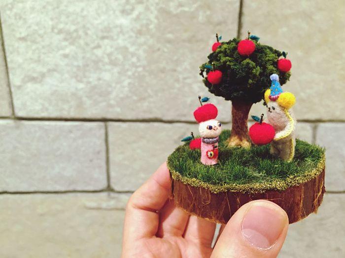 Up Apple. Handmade Fujitasanpuru Felt Craft Felt Handmade By Me Enjoy Life Happy Apple