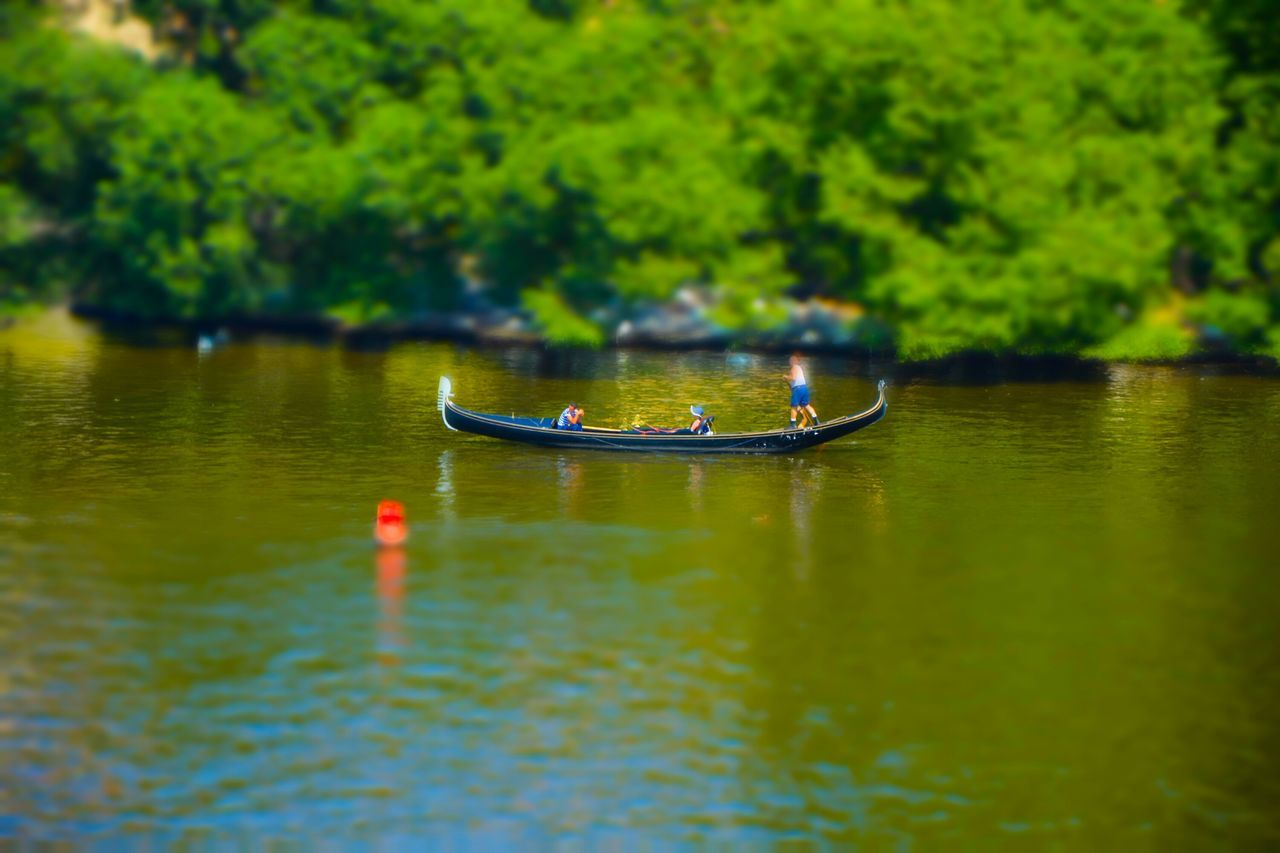 water, nautical vessel, nature, river, day, outdoors, real people, beauty in nature, oar, tree, rowing