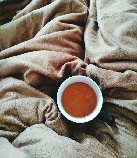 Tea or coffee in bed. wonderful.