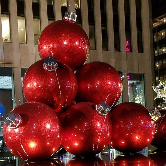 NYC NYC Photography NYC Christmas Christmas Lights Christmas Around The World Red Christmas Celebration Illuminated Night Christmas Decoration No People