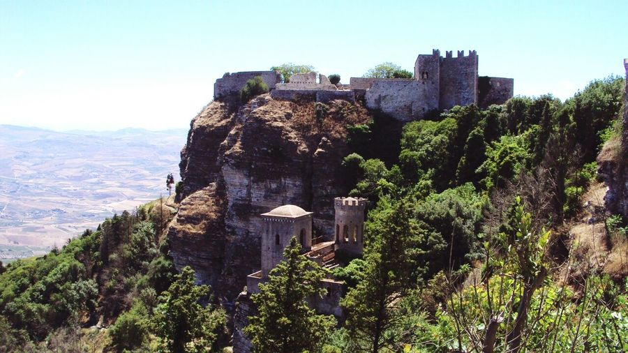 Old towers...Erice View Erice Towers Sicily Medieval Architecture