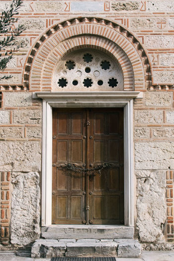 Acropolis Arch Architecture Athens Athens, Greece Brick Wall Building Exterior Built Structure Day Door Entrance Façade Front Door Greece No People Outdoors Travel Travel Destinations Travel Photography
