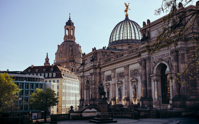 Architecture Building Exterior Built Structure Church City Dome Dresden No People Sky Sunset Tourism Travel Destinations