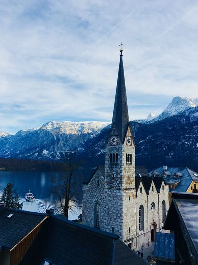 Hallstatt Landscape_photography Lakeside Lake View Church Architecture Beauty In Nature