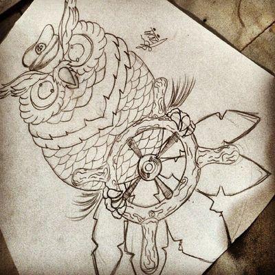 Vamos trabalhar , a mente quando trabalha a arte sempre flui !!! Arte Tattoo By JuniorBK