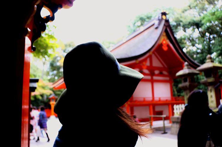 EyeEm Japan Fushimi Inari Taisha Enjoying Life Lightshow Light In The Darkness From My Point Of View Shadows & Lights Creative Light And Shadow Japannes Girl Japanese Culture Praying Prayforjapan Beautiful Girls  Beautiful Woman