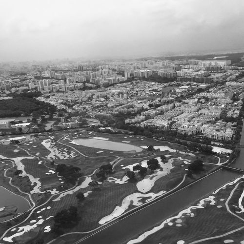 City Aerial View Road Landscape Residential Structure Sky High Angle View Cityscape Residential Building City Life Wide Shot Day Nature Scenics Blackandwhite Photography Black & White Singapore