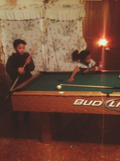 Indoors  Pool Table Pool Ball The Holidays Family Time Children Happiness Little Boy Love Togetherness Fun