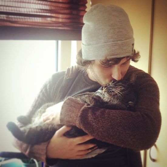 Chillenmitdemherrchen Kuscheln  Kuss Cat Herrchen Bestfriends Love