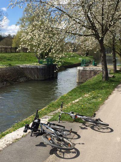 Bicycle Velo Veloroute Bicycle Trip Somme River Lock Écluse Randonnée Pause Printemps Springtime Picardie VTTloisirs VTT