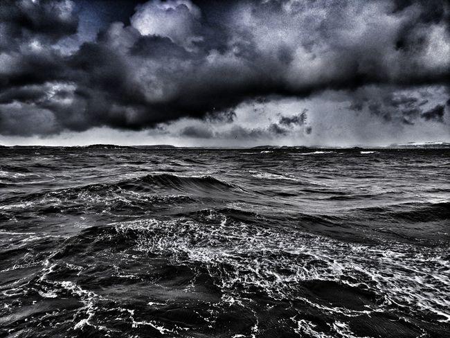 Water Wave Sea Beach Sky Horizon Over Water Cloud - Sky Storm Cloud Dramatic Sky Storm