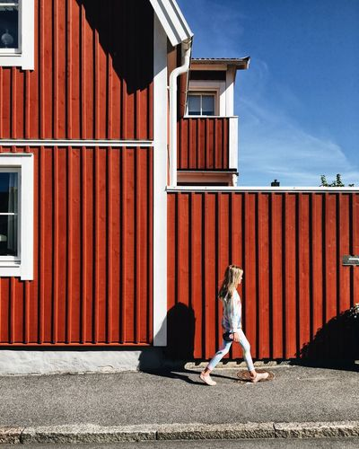 Sunny day One Person Outdoors Architecture Sunlight Travel Girl Sweden Karlskrona Scandinavia Architecture Colorful City Break City City Life Colour Your Horizn Colour Your Horizn The Architect - 2018 EyeEm Awards