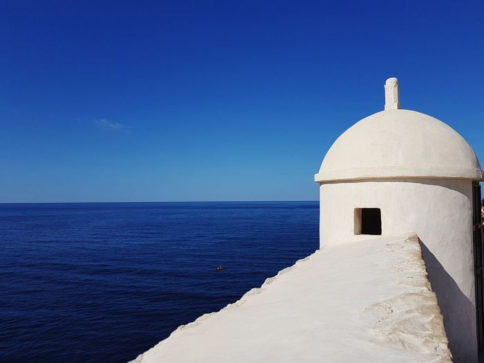 From Walls Of Dubrovnik overlooking Adriatic Sea White Dubrovnik Croatia Wall Whitewashed Sea Clear Sky Dome Blue Summer Beach Sky Architecture Horizon Over Water Calm Tranquil Scene