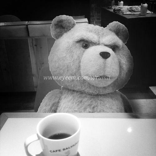 最近、 Ted とばったり会う事が多いので お茶してます。