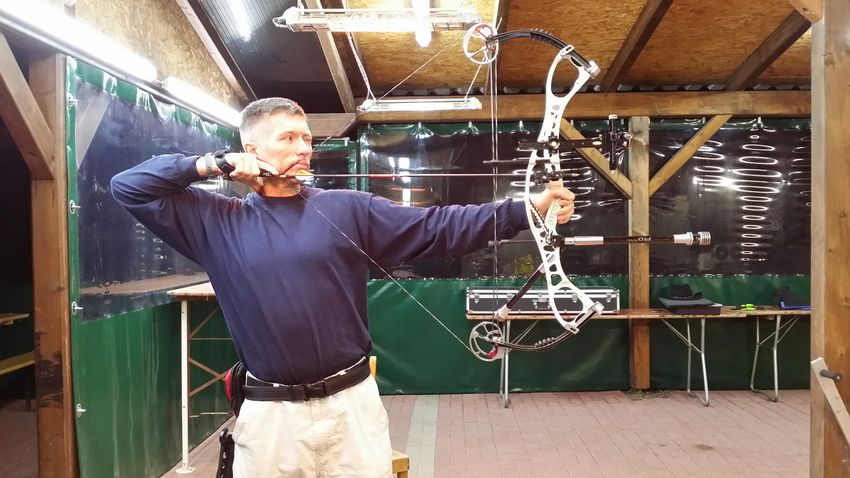 Winter Training Bogenschießen Bogenschuetzen Trainer Jugendtrainer Compoundbow Hoyt