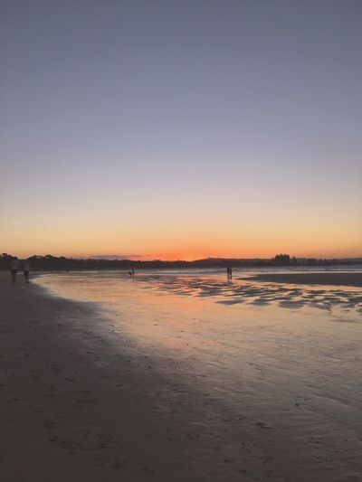 Water Nature Scenics Beauty In Nature Sunset Tranquility Tranquil Scene Sea Clear Sky Outdoors Sky Beach No People Day Byronbay Beachphotography Sunset At The Beach Beachlovers Beauty In Nature Beach And Sky Sunset_collection Beach Photography