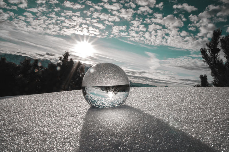 A glass ball in