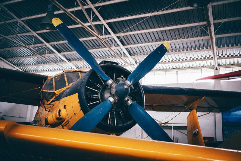 Airplane In Garage