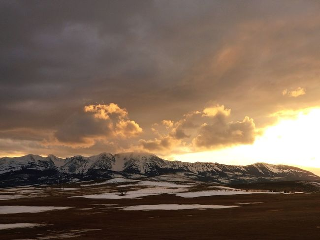 Selected For Premium Montanamoment Montana Winter Montanacolors Montana Sky Rock Formation Montana EyeEmNewHere Mountains Mountain Range Mountains And Sky Mountain Power In Nature Sunset Snow Sky Snowcapped Mountain Rugged