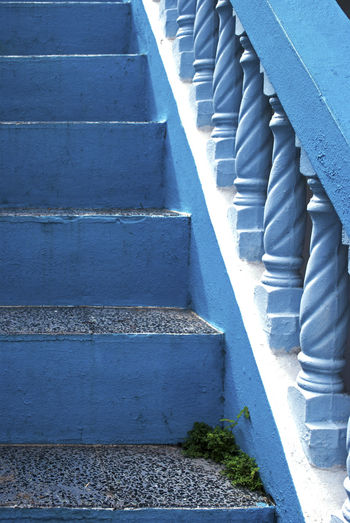 Blue Carribbean Stairways Steps Tropical Wall - Building Feature