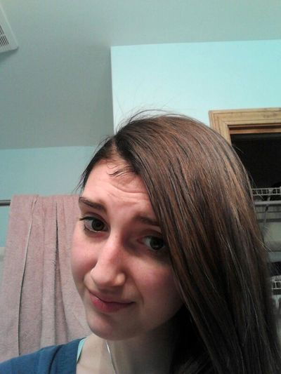 Dyeing my hair before picture my hair is medium chestnut brown