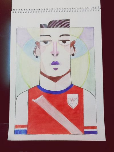 Ozil painting for my friend ( narges) Bestfriend Friends Painting Drawing Mesut Ozil Özil Football Football Player
