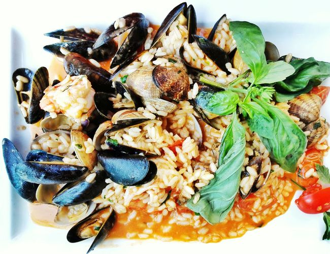 Mussels And Rice In Plate