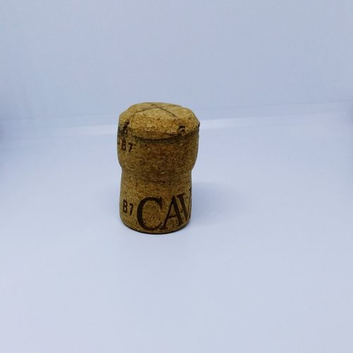 A Close-up of a Cava Cork with a White Background . Featuring Day No People White Food And Drink Modern Art Modern Living Contemporary