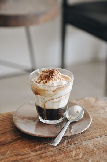 Cafe Coffee Sweet Food And Drink Eating Utensil Kitchen Utensil Coffee Drink Coffee - Drink Spoon Table Refreshment Food Freshness Glass Indoors  Crockery Still Life Sweet Food Hot Drink Saucer Cup Household Equipment