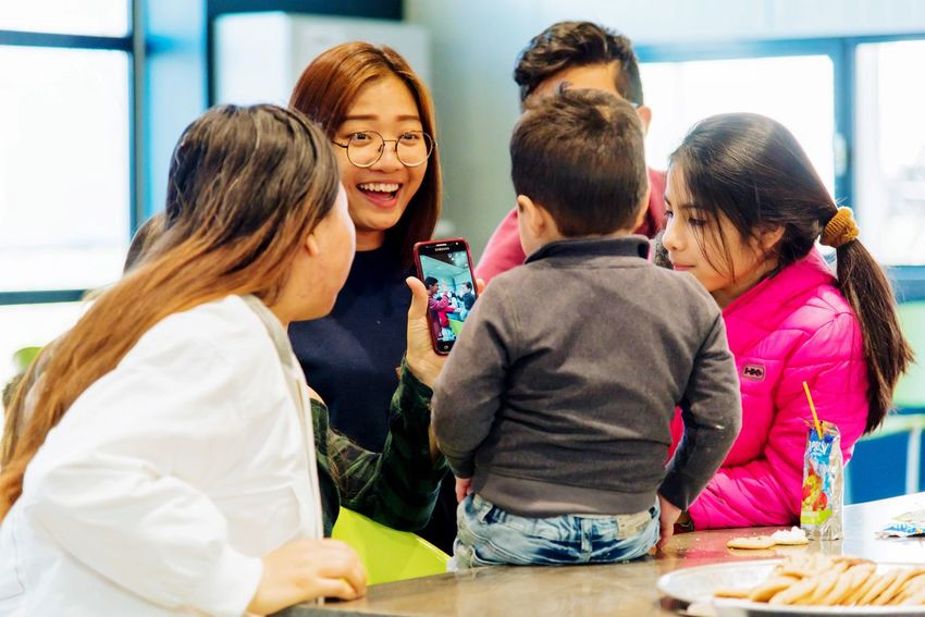 Family time Lifestyle Family Group Of People Women Men Adult Real People Lifestyles Indoors  Communication Happiness People Talking Togetherness Food And Drink Smiling Emotion Child Friendship Casual Clothing Females Males