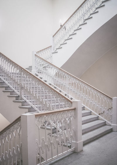 All stairs is yours. Nobody is waiting up and down. Architecture Staircase Built Structure Railing Low Angle View Design Simplicity Steps And Staircases Building Indoors  White Color Spiral Spiral Staircase Pattern Wall - Building Feature Diminishing Perspective Balustrade