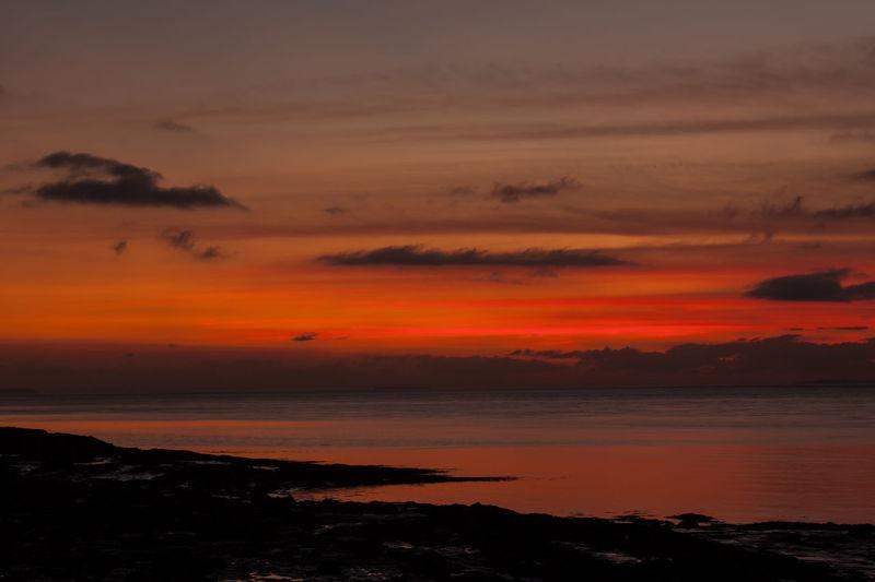 Coastline Orange Portishead England Sunset Clouds Beauty In Nature Coastal Dusk Nature No People Ocean Outdoors Scenics Sea Seascape Shore Sky Sundown Sundown...♥ Sunset Sunset Sky Tranquil Scene Tranquility Uk Water