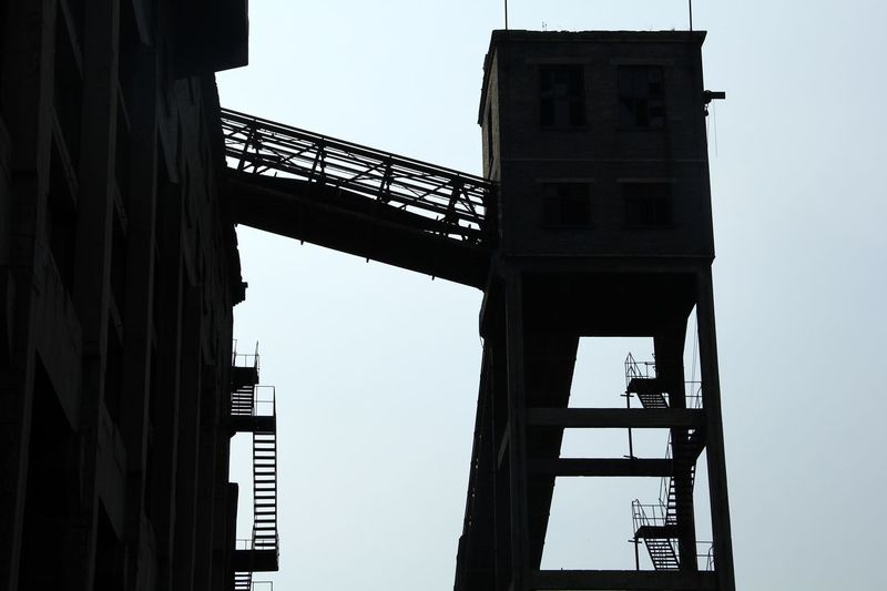 Ladder in sky Old Time & Abondoned Factory