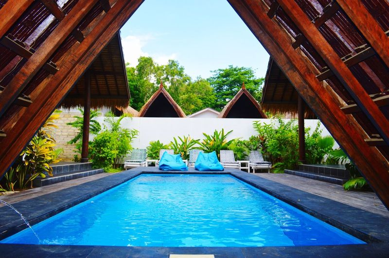 Swimming Pool Water Architecture Outdoors Villa Blue Day Vacations No People Built Structure Building Exterior Luxury Tree Sky Spa Popular Photos