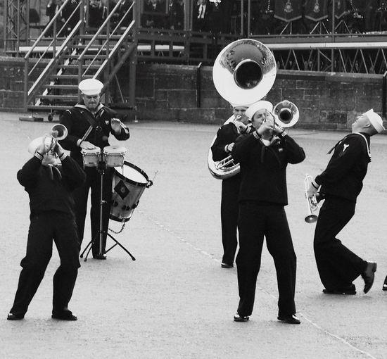 Music Trumpet Playing Uniform Sailor Blackandwhite Photography Swinging